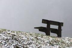 把在木树冬天和雾13的空位换下场 免版税图库摄影