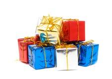 把小的礼品装箱 免版税库存照片