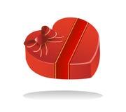 把巧克力甜点华伦泰装箱 免版税库存图片