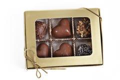 把巧克力装箱 库存照片