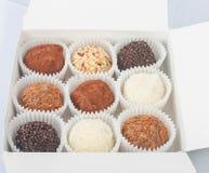 把巧克力装箱 免版税库存照片