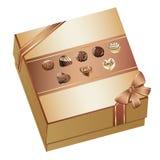 把巧克力装箱 图库摄影