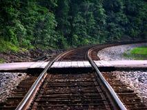 把我带对火车轨道 免版税库存照片