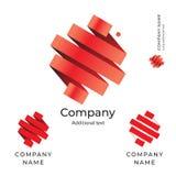 把抽象世界商标设计现代干净的身分品牌象标志概念集合模板录音 免版税图库摄影