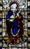 把握关键的圣皮特圣徒・彼得(彩色玻璃) 库存例证