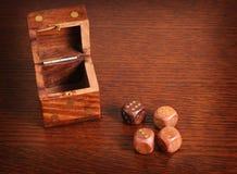 把木头切成小方块 免版税库存照片