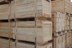 把木装箱 库存照片