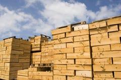 把木装箱 免版税库存照片