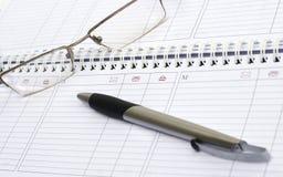 把柄日记帐每星期指向 库存照片