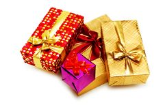 把查出的礼品装箱 免版税库存照片