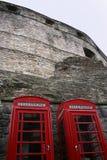 把爱丁堡电话装箱 免版税库存图片