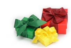 把礼品三装箱 免版税库存图片