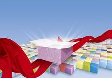 把礼品促销装箱 图库摄影