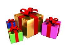 把礼品堆装箱 库存照片