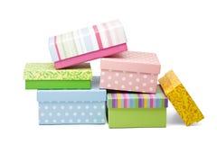 把礼品堆装箱 免版税库存照片