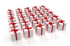 把礼品方形白色装箱 库存图片