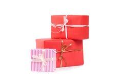 把礼品查出的白色装箱 免版税库存图片
