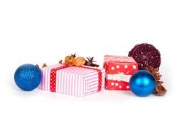 把礼品查出的白色装箱 库存图片