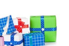 把礼品查出的白色装箱 库存照片