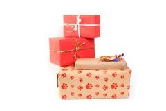 把礼品查出的白色装箱 图库摄影