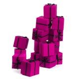 把礼品粉红色装箱 库存图片