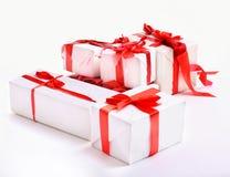 把礼品红色栈装箱 库存照片
