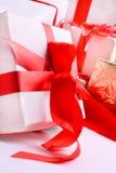 把礼品红色栈装箱 库存图片
