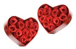 把礼品红色玫瑰装箱 免版税图库摄影