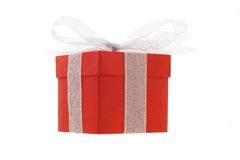 把礼品红色装箱 库存图片