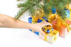 把礼品装箱 免版税库存照片