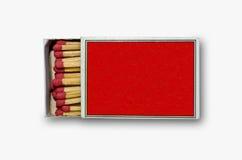 把符合开放红色装箱 免版税库存图片