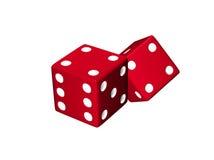 把红色二切成小方块 免版税库存照片