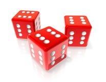 把红色六切成小方块 免版税库存图片