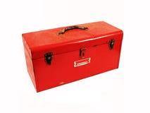 把红色工具装箱 图库摄影