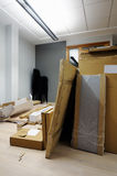 把纸板办公室装箱 库存照片