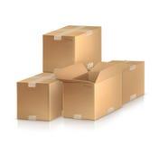 把纸板装箱 向量例证
