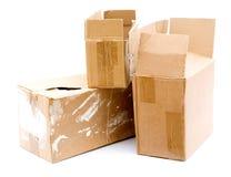 把纸板装箱 库存图片