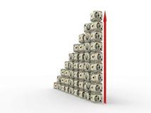把美元堆切成小方块 免版税图库摄影