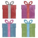 把被回收的礼品papercraft装箱 免版税库存图片