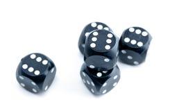 把赌博切成小方块 库存图片