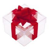 把透明的礼品装箱 库存图片