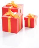 把逗人喜爱的礼品红色装箱 库存图片