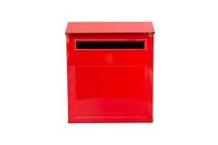 把邮件红色装箱 库存照片