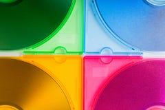把CD的颜色装箱 免版税库存图片