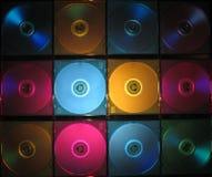 把CD的dvd装箱 库存图片