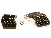 把Domino切成小方块 免版税库存照片