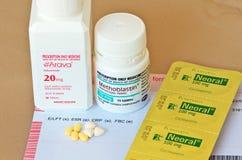 抑制免疫力之药剂药物 图库摄影