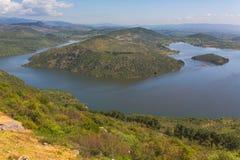 抑制Ketios河贝尔加马伊兹密尔省土耳其湖谷  免版税图库摄影