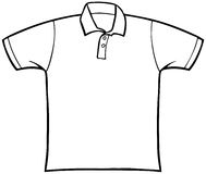 抓住衣领口的衬衣t 库存例证