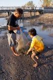 抓住鱼 免版税图库摄影